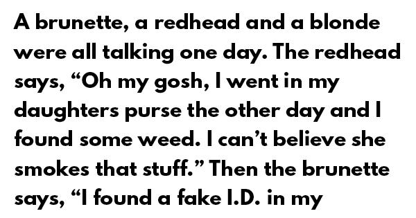 Brunette blonde and redhead jokes